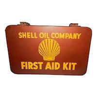 Vintage Metal Shell Oil Company First Aid Kit Rockford Illinois