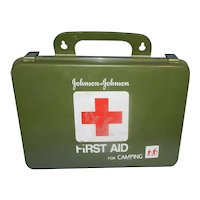 Vintage 1980's Johnson & Johnson First Aid For Camping Kit- Complete Never Used