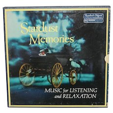Vintage Reader's Digest Pleasure Programmed RCA Custom Dynagroove Stardust Memories Music for Listening and Relaxation 8 LP album record set