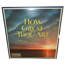 Vintage How Great Thou Art 8 Records Box Set Reader's Digest RDA-039-A