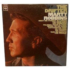 Vintage Marty Robbins The Drifter LP by Columbia Records CL 2527 MONO