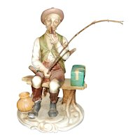 Vintage 1960's Old Man Fishing Ardco Fine Quality Dallas made in Japan
