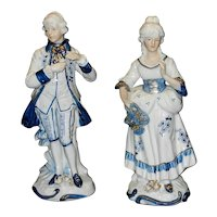 Vintage Pair of Colonial Figurines with KPM Backstamp