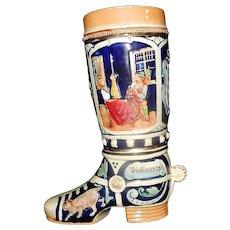 Vintage Eckhardt and Engler Ceramic Beer Boot