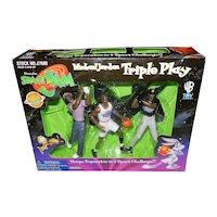 •Vintage NIB 1996 Space Jam Playmates Toy Michael Jordan Triple Play Set -Basketball –Baseball- Golf  -WB Movie  Looney Tunes