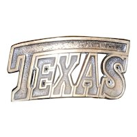 Vintage High Mesa Solid Bronze 1987 TEXAS Belt Buckle