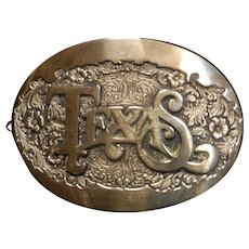 Vintage Award Design Medals Solid Brass Texas Belt Buckle