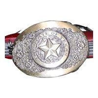 Vintage Award Design Medals First Edition #169 Solid Brass Ladies Belt Buckle