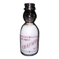 Vintage Chapman Quart Cream Top Red Pyro Milk Bottle