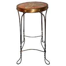 Antique Twisted Metal Wire Ice Cream Parlor or Tall Bar Stool