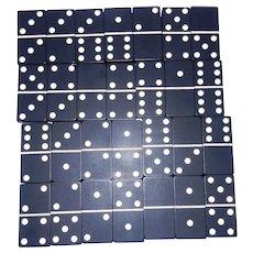 Vintage Black Professional Dominoes