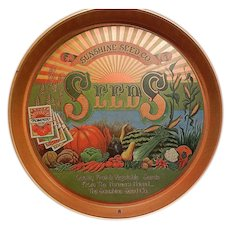Vintage Sunshine Seed Company Serving Tray