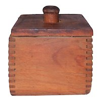 Antique Square Wooden Butter Mold