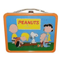 Vintage 1959 Peanuts Lunch Box with Thermos