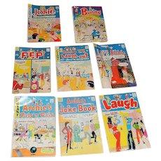 Vintage Set of 8 Archie Bronze Age Comic Books