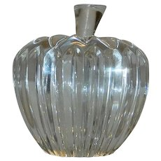Vintage Waterford Ribbed Apple with Stem made in Ireland