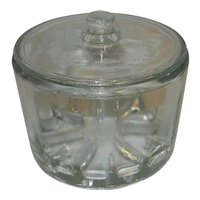 Vintage 1930's Sanitary Glass Cheese Preserver with Lid
