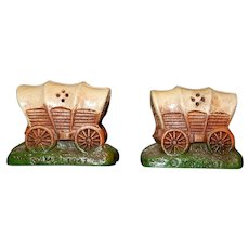 Vintage M. P. I. Conestoga Wagon Salt and Pepper Shakers