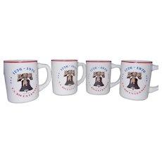 Vintage 1776-1976 U.S. Bicentennial Coffee Mugs Buntingware Made in USA