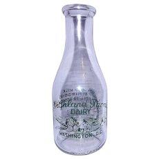 Vintage Highland Farms Dairy Qt. Milk Bottle Washington D.C.
