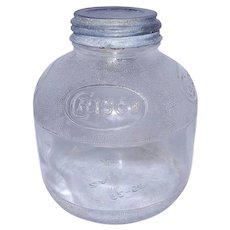 Vintage Ball Glass Crisco Jar