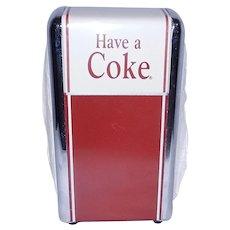 """Vintage """"Have a Coke"""" 1992 Coca Cola Enameled Metal Napkin Dispenser"""