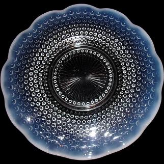 Vintage Fenton Moonstone Opalescent Hobnail Platter