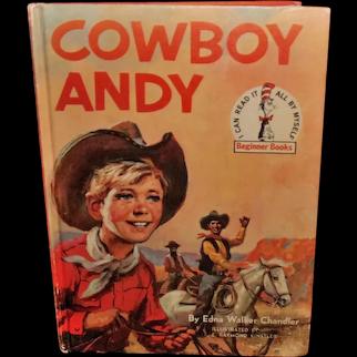 Cowboy Andy VINTAGE 1959 Dr. Seuss Book Club Edition