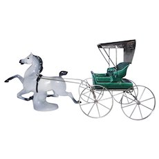 Vintage Metlox Old Fashion Buggy and Currier and Ives Horse