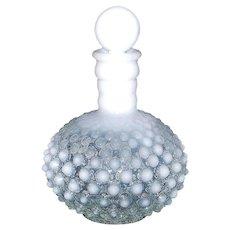 Fenton Opalescent Moonglow Hobnail Glass Perfume Bottle