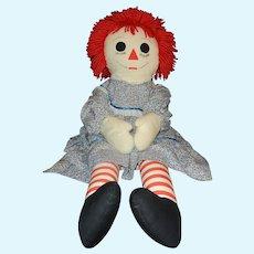 """Vintage 36"""" 1970s Life-size Raggedy Ann Doll"""