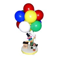 Clown Balloon Vendor Childs Lamp Vintage Dolly Toy Nursery Lamp & Shade No 541.