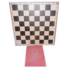 Vintage Drueke's American Made Chessmen and Board Circa 40's-50's