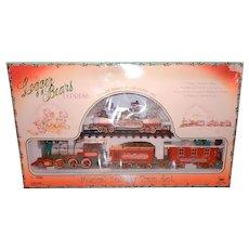 Vintage 1996 New Bright The Logger Bears Express Musical Holiday Train Set No. 181