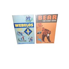 Weblos Scout Book and Bear Cub Scout Book from the Boy Scouts of America