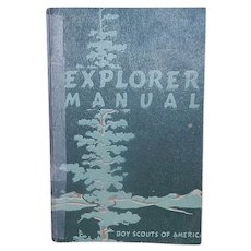 Vintage Explorer Manual from the Boy Scouts of America 1950 Edition
