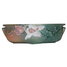 Vintage Roseville Pottery Magnolia Planter 389 - 8