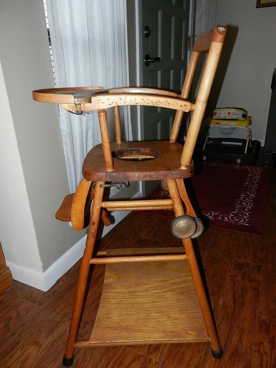 Vintage Wooden High Chair, Potty Chair and Play Chair in One. Click to  expand - Vintage Wooden High Chair, Potty Chair And Play Chair In One : My