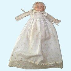 Vintage Hand-Painted Porcelain Composition Doll