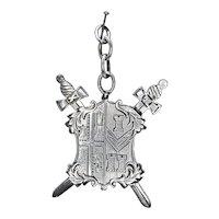 Vintage Rare Silver Emblem Fob Charm