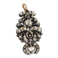 Victorian Silver-Topped Gold Diamond Pendant