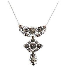 Antique Georgian Silver Diamond Cross Pendant