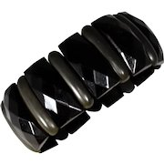 Victorian Horn and Vulcanite Mourning Bracelet