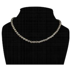 Vintage Mexican Sterling Silver Bead Choker Necklace