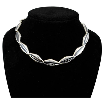 Vintage S. Christian Fogh Danish Sterling Choker Necklace