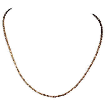 """English Victorian 15ct Gold Link Chain Necklet 19"""""""