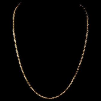 "Vintage 14Kt Gold Chain Necklace 25"""