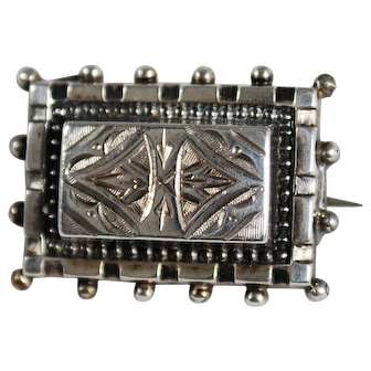 Victorian Sterling Lace Pin Brooch; Lapel Pin