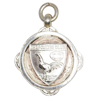 Vintage English Sterling 1921 Poultry Club Medallion