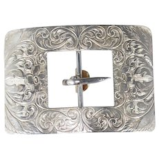 Edwardian Birks Sterling Sash Belt Buckle